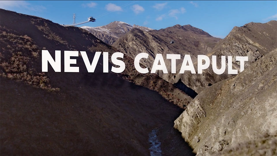 Storyworks | Brands Worked With | AJ Hackett's new Nevis Catapult promo